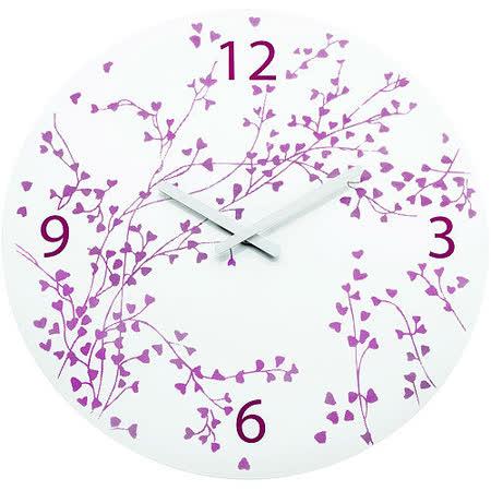 《KOZIOL》愛情樹壁面時鐘(白)