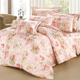 【彩舍家居】玫瑰城堡-雙人八件式兩用被床罩組