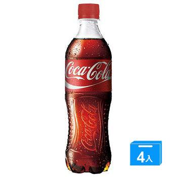 可口可樂寶特瓶600ml*4入