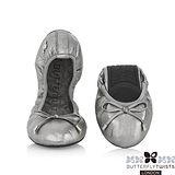 BUTTERFLY TWISTS - SIENNA皮革可折疊扭轉芭蕾舞鞋-尊榮灰