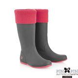 BUTTERFLY TWISTS -WINDSOR可折疊扭轉防水雨靴-灰/蜜桃粉