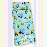 BUTTERFLY【動物園】冬夏兩用兒童睡袋-藍