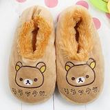 【童鞋城堡】Rilakkuma拉拉熊親子造型包覆棉拖{冬季限量}KM2666