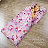 【Hello Kitty】蝴碟結兒童睡袋(粉)