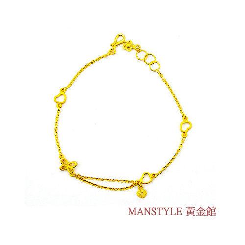 MANSTYLE 真心祝福黃金手鍊 (約1.00錢)
