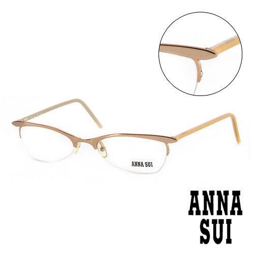 Anna Sui 安娜蘇  金屬 平光眼鏡^(金^) AS00903
