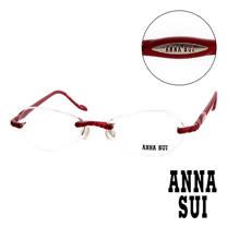 Anna Sui 日本安娜蘇 螺旋珠光無框眼鏡(紅) AS02402
