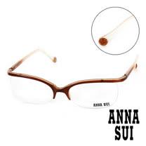 Anna Sui 日本安娜蘇 魔幻漸層立體精雕造型平光眼鏡(金) AS03403