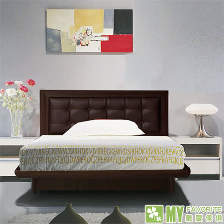 最愛傢俱 新復古款式《胡桃 3.5尺單人後掀床台 方格造型 》 單人 後掀床架