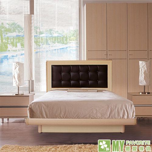 最愛傢俱 新復古款式《白橡 3.5尺單人後掀床台 方格造型 》 單人 後掀床架