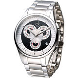 cK 重裝搖滾風3眼計時腕錶-黑K2A27104