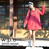 【w.p.c.】baby style。時尚雨衣/風衣(R1002)-桃紅