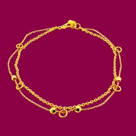 Manstyle「緣分」黃金腳鍊 (約1.76錢)