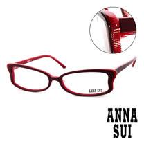Anna Sui 日本安娜蘇 魔幻時尚蝴蝶造型平光眼鏡(紅) AS10002