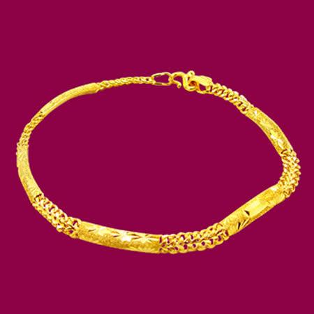 MANSTYLE「永恆」黃金手鍊 (約1.95錢)