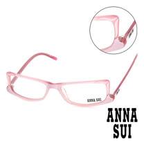 Anna Sui 日本安娜蘇 魔幻貓耳造型平光眼鏡(藕) AS10304