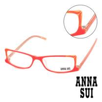 Anna Sui 日本安娜蘇 魔幻貓耳造型平光眼鏡(螢光粉) AS10305
