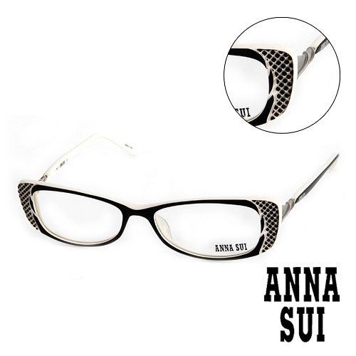 3162Anna Sui 安娜蘇 立體精雕 平光眼鏡^(白^) AS10401