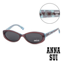 Anna Sui 日本安娜蘇 復古雕刻造型太陽眼鏡(藍+紫) AS62703