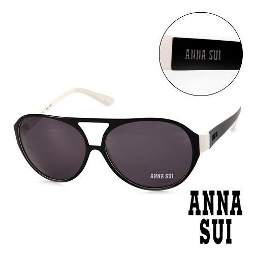 Anna Sui 安娜蘇 復古 黑 太陽眼鏡^(黑^) AS63402