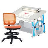 HAPPYHOME DIY兒童成長書桌網背椅組DF-100