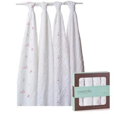 美國aden+anais 輕柔新生兒包巾-可愛心型系列(4入)AA2042
