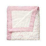 美國 aden+anais嬰幼兒竹纖維被毯-粉色枝葉系列AA9302