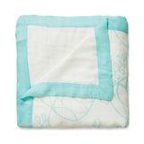 美國 aden+anais嬰幼兒竹纖維被毯-藍色枝葉系列AA9303