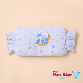 【聖哥-明日之星Newstar】MIT 超Q嬰兒/幼兒/新生兒枕 糖果造型超可愛 /幼幼班午睡枕超適合 藍、粉紅可選