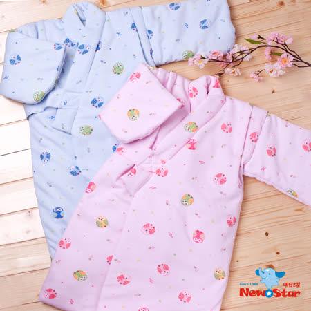 【聖哥-明日之星】幼兒鋪棉和服(厚、印花、綁帶式腰帶)藍、粉紅可選