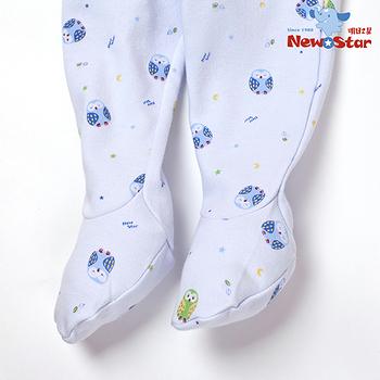 【聖哥-明日之星Newstar】MIT 秋冬嬰兒新生兒腳套可愛保暖長褲(厚、碎花)藍、粉紅可選 / 0~9月