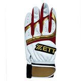 ZETT 打擊手套 BBGT-395 白紅 (隻)