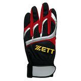 ZETT 打擊手套 BBGT-395 黑紅 (隻)