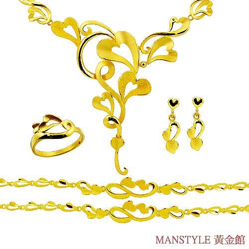 Manstyle「百年好合」黃金套組 (約16.83錢)