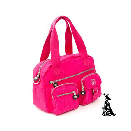 冰山袋鼠 - 樂活系多功能型雙口袋式保齡球包-玫紅