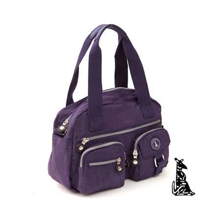 冰山袋鼠 - 樂活系多功能型雙口袋式保齡球包-深紫