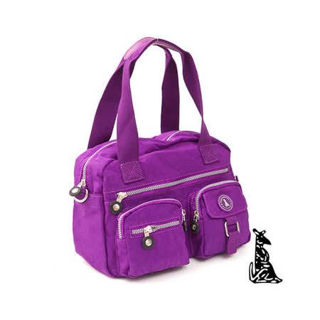 冰山袋鼠 - 樂活系多功能型雙口袋式保齡球包-新紫