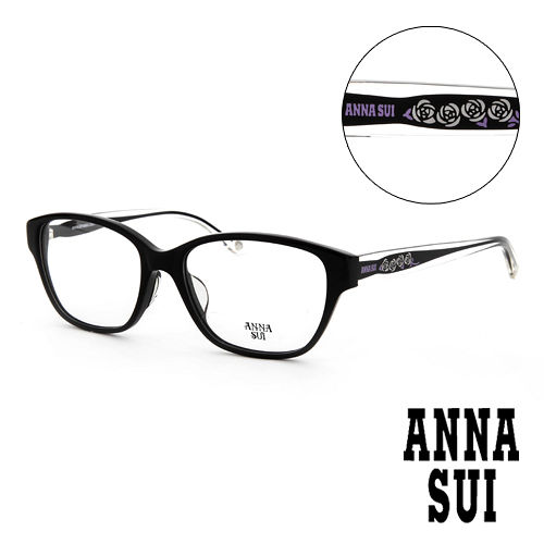 Anna Sui 安娜蘇 直感透明薔薇 平光眼鏡^(黑^) AS584001