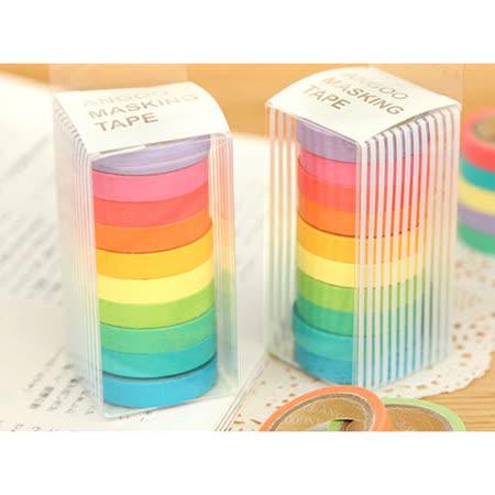 【PS Mall】清新可愛糖果色手撕彩色日本和紙膠帶可寫字_ 1組10入(J1064)