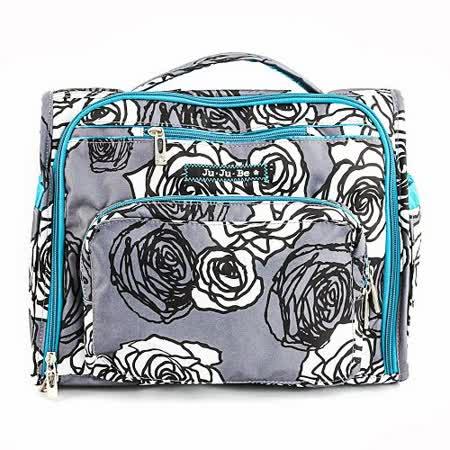 【美國JuJuBe媽媽包】BFF後背/肩背包-Charcoal Roses凡爾賽花園-搶手新色好評熱賣