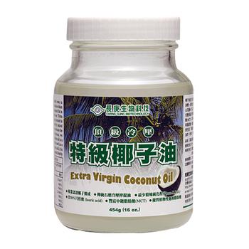 長庚生技 頂級冷壓特級椰子油2瓶(454g/瓶)