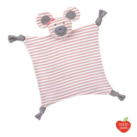 美國【Apple Park  - 農場好朋友系列】有機棉安撫巾 - 芭雷鼠娘