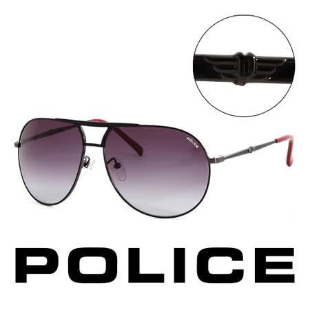 Police 義大利 警察 復古時尚經典造型太陽眼鏡(黑) POS87590K59