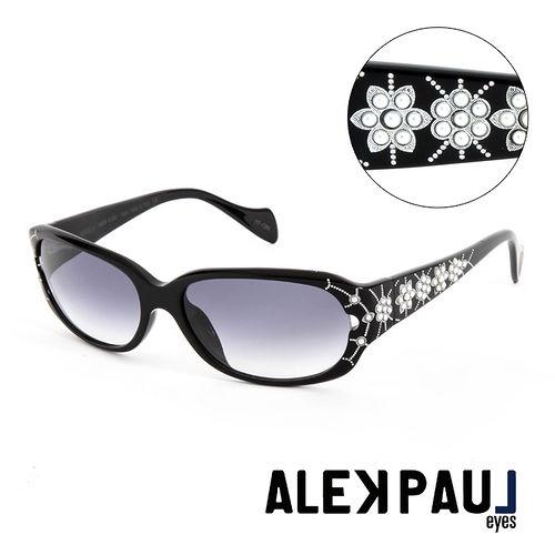 Alek Paul 義大利 板材 版珠寶框 太陽眼鏡^(黑^) AP500101