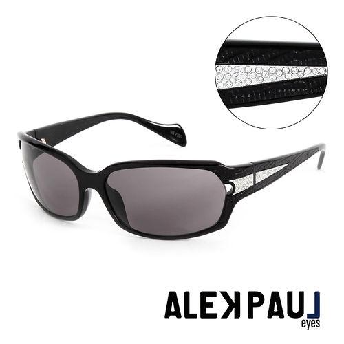 Alek Paul 義大利 板材 版珠寶框 太陽眼鏡^(黑^) AP500201