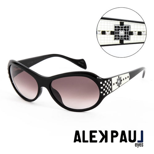 Alek Paul 義大利 板材 版珠寶框 太陽眼鏡^(棕^) AP500301