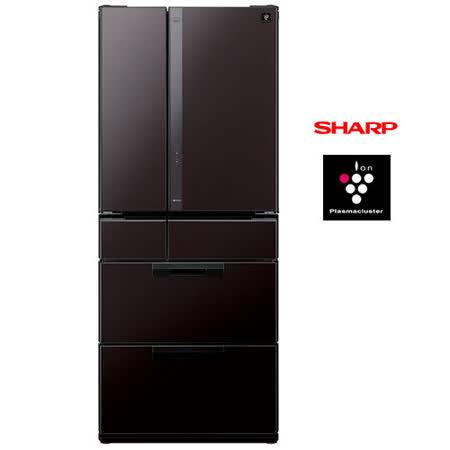SHARP夏普601L日本原裝六門對開冰箱SJ-GF60X