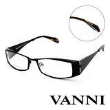 Vanni  復古時尚經典造型平光眼鏡(黑) V2507C321