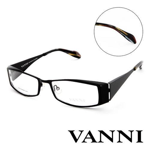 Vanni 復古  平光眼鏡^(黑^) V2507C321