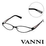 Vanni  復古輕巧造型平光眼鏡(黑) V8305C151